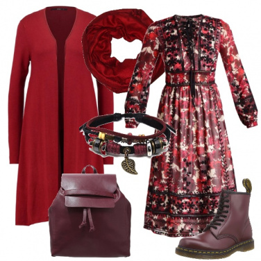 Outfit Folk in rosso
