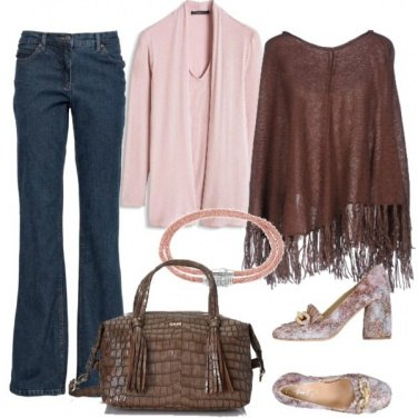 Outfit Pink and brown
