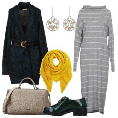 Outfit Vestito longuette e stringata