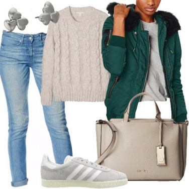 Outfit Bomber verde