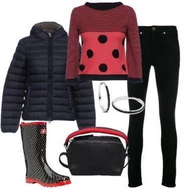 Outfit Shopping sotto la pioggia