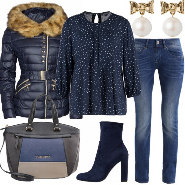 Outfit Inverno in blu