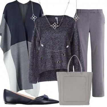 Outfit Minimal blu e grigio