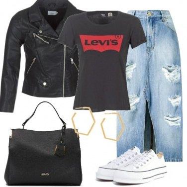 Outfit A lavoro con la gonna di jeans