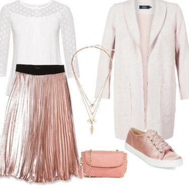 Outfit Gonna rosa lunga rosa