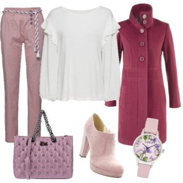 Outfit Pantalone a pois