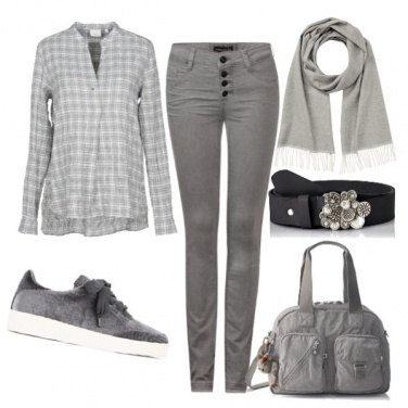 Outfit Scozzese in grigio