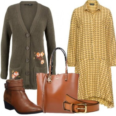 Outfit Chemisier con cintura