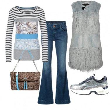 Outfit In Jeans con un tocco di animalier