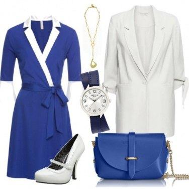 Outfit Vestito blu elettrico