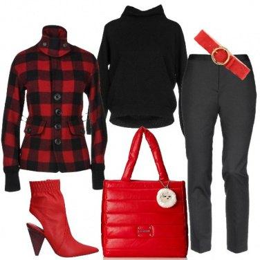 Outfit Griffata in rosso e nero