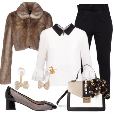 Outfit Serata stile bon ton