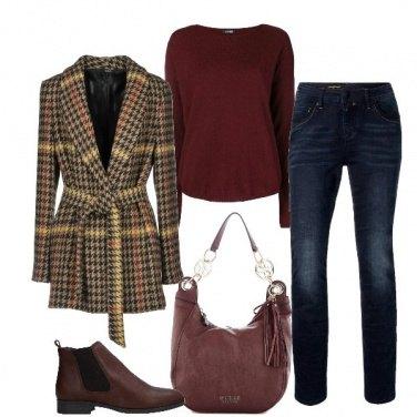Outfit Jeans e cappotto di flanella