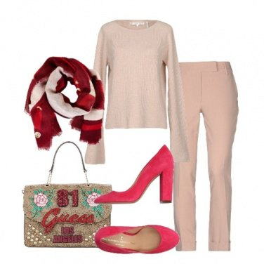 Outfit Dal beige al rosso
