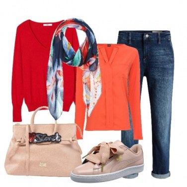 Outfit Il foulard multicolore