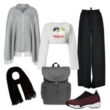 Outfit Mantella con la zip