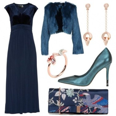 Outfit Le sfumature del pavone