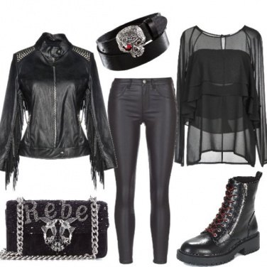 Outfit Halloween rock night