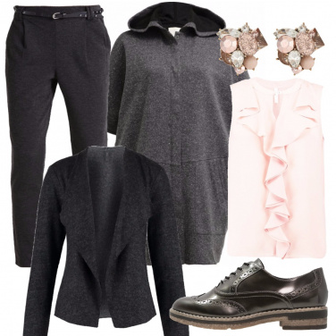 Outfit Grigio e classico