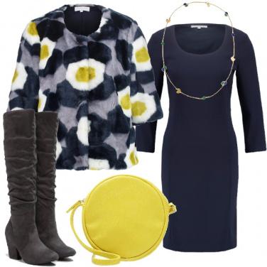 Outfit Rallegrare il tubino blu