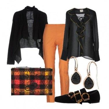 Outfit Pantaloni arancio