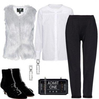 Outfit Trendy bianco e nero