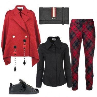 Outfit Caban rosso