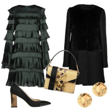 Outfit Oro e luce total look