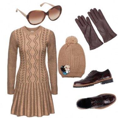 Outfit Abito e stringate