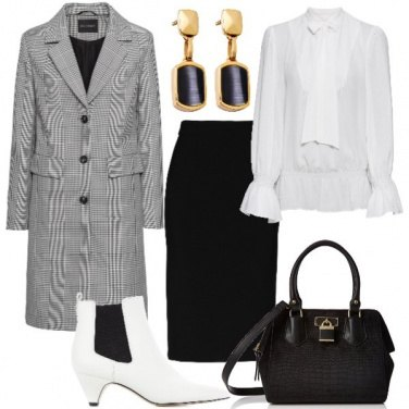 Outfit Lo stivaletto bianco