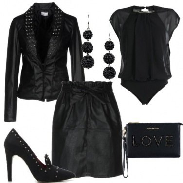 Outfit Black in love