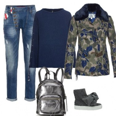 Outfit Cappotto camouflage