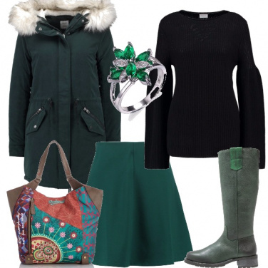 Outfit Verde in gennaio