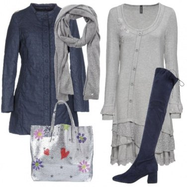 Outfit Miss grey