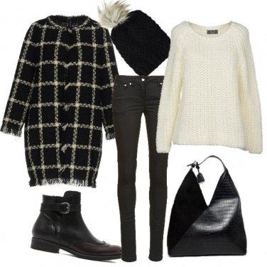 Outfit Trendy con il cappotto a righe