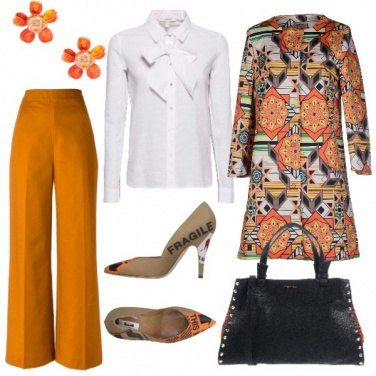 Outfit Orange chic