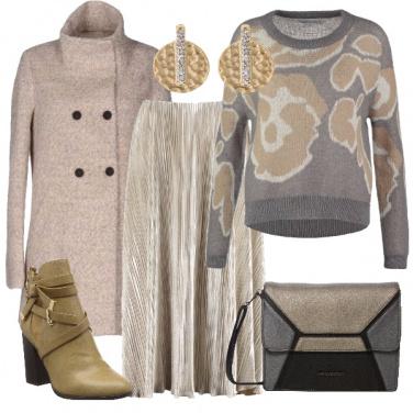 Outfit Oro e argento da giorno