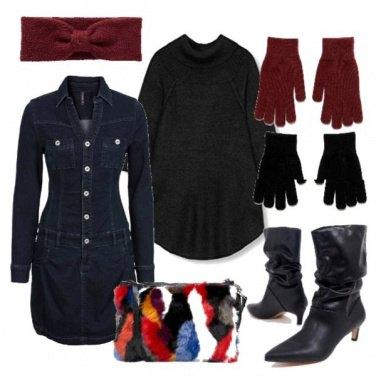 Outfit Vestito di jeans