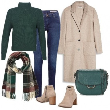 Outfit Cappotto lungo beige