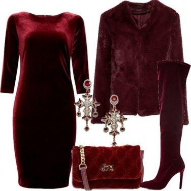 Outfit Burgundy velvet