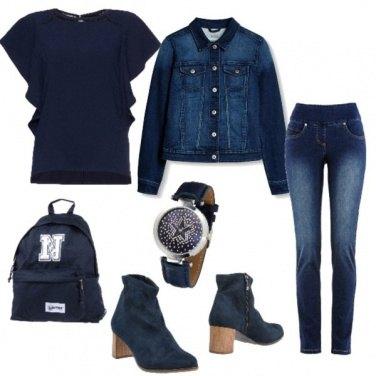 Outfit Stivaletti blu