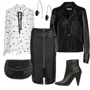 Outfit Rock con un tocco di bon ton