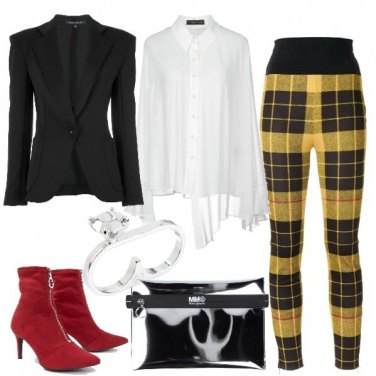 Outfit Tartan giallo