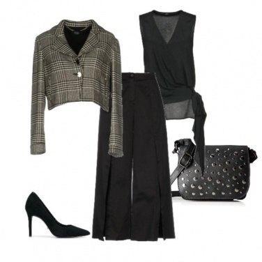 Outfit In ufficio in nero