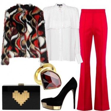Outfit Camicia e pantalone rosso