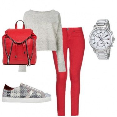 Outfit Zaino rosso