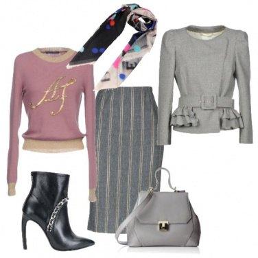Outfit Chic con un foulard
