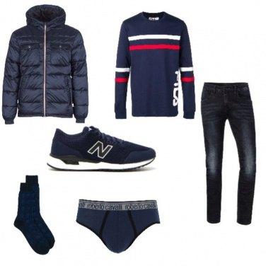 Outfit Di blu dipinto