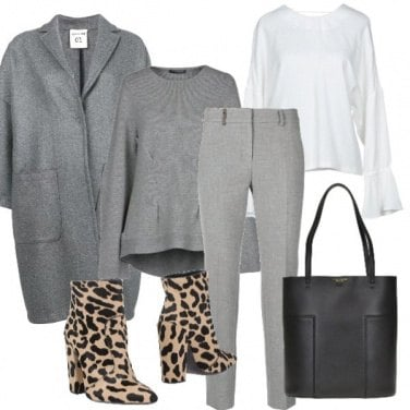 Outfit Donna grigia