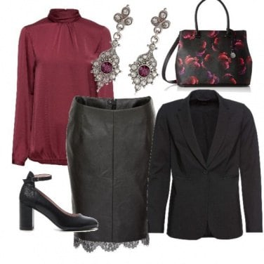 Outfit Bordeaux chic